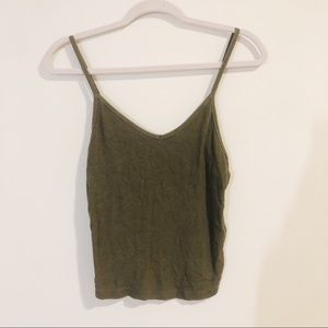American Eagle Soft and Sexy Olive Green Tank